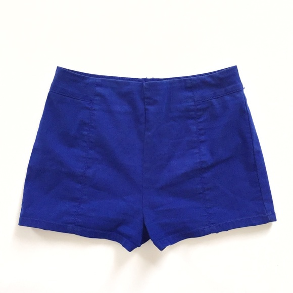 Urban Outfitters - Kimchi Blue UO high waisted royal blue shorts ...