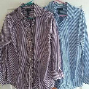 Lands' End Tops - Lands End Stripe Shirt Bundle size 16