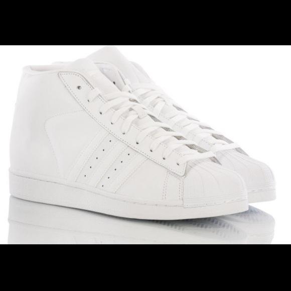 783ad3604bf635 Adidas Other - Adidas Pro Model Triple White Leather Shoe size 12