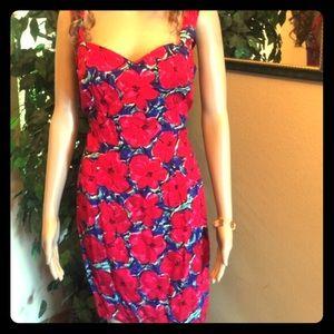 Paris Blues Dresses & Skirts - Red Print Dress sz 7 by Paris Blues 2/piece