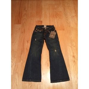 True Religion Girls Joey Embroidered Bootcut Jeans