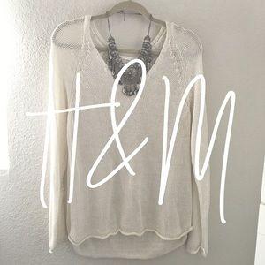 NWOT / H&M / cream sweater