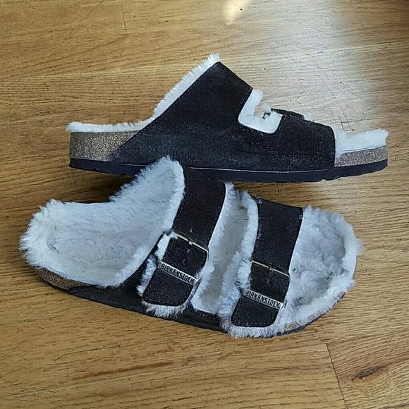 5d3983fc10b8 Birkenstock Shoes - Fur lined Birkenstock sandals