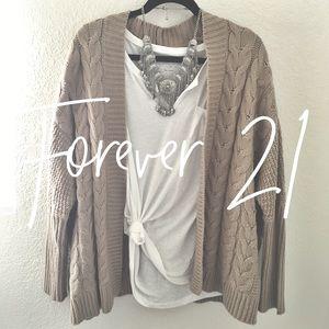 Forever 21 / tan cardigan