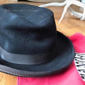 Vintage Accessories - Fantastic vintage black wool brimmed hat 🎩
