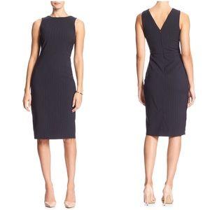 {banana republic} pinstripe sheath dress