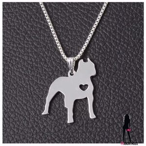 October Love Jewelry - Silver Plate Pittie Necklace