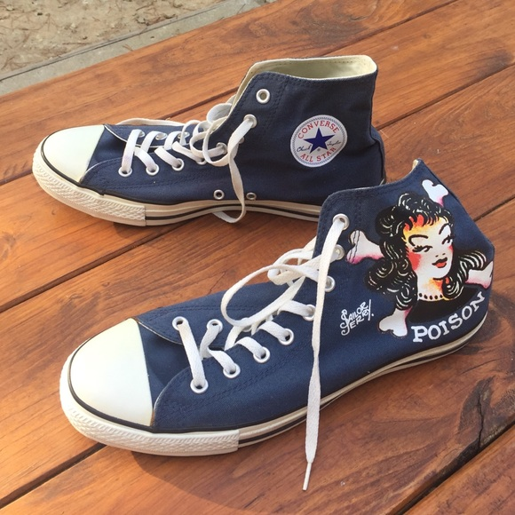 0dc806ed0272 Converse Other - Navy blue Sailor Jerry Converse Chuck Taylors