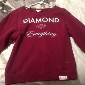 Diamond Supply Co. Tops - Maroon sweatshirt