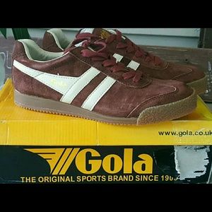 Gola Shoes - Gola Throwback Retro Style SUEDED LEATHER sneakers
