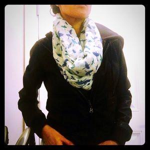 Infinity scarf with bird prints!