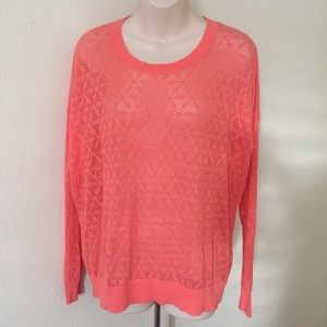 Madewell Open Knit Sheer Sweater Pullover M