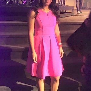 Dresses & Skirts - Hot pink fit and flare dress