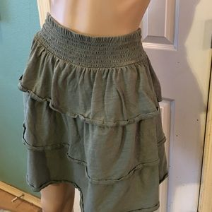 Old Navy Plus Size Green Tiered Skirt NWOT