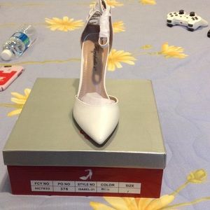 Breckelles Shoes - Beautiful White Heels