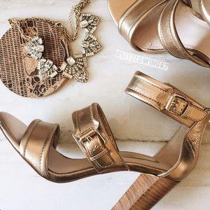 Louise et Cie Shoes - Bronze ankle strap heels