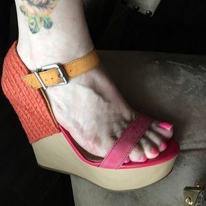 Gianni Bini Shoes - Color blocked wedge Gianni Bini sandals. 8M