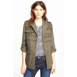 Joie Jackets & Blazers - Joie Evandale Military Green Embroidered Jacket