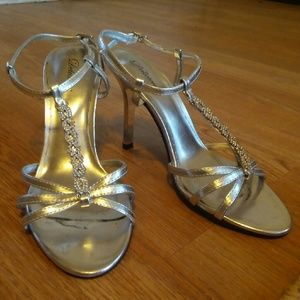 Delicious Shoes - Jeweled Silver Heels
