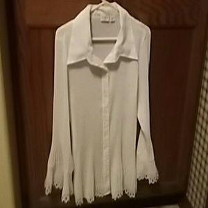 Tops - New Womens Ruffled long sleeve blouse