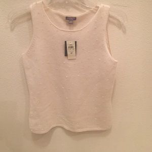 NWT Ann Taylor Cashmere Top with Sparkles
