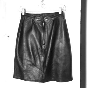 Dresses & Skirts - Real leather body-con high waisted skirt