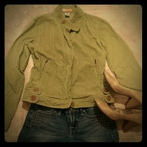 Tulle Jackets & Blazers - Tulle // Olive Green Cordouroy Jacket - Small