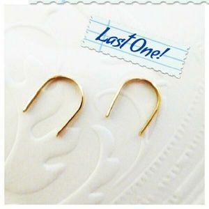 Beora Jewelry Jewelry - Minimalist 14k Gold Horseshoe Earrings
