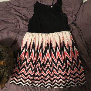 Chevron style dress