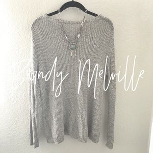NWOT / Brandy Melville / gray sweater