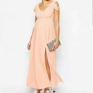 Blush Maternity Maxi Dress