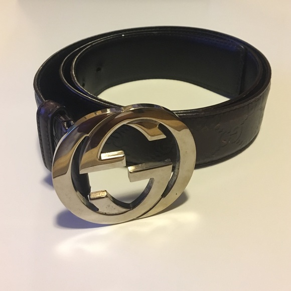 4dfcf8105e6 Gucci Other - Men s brown Gucci embossed leather belt size 36