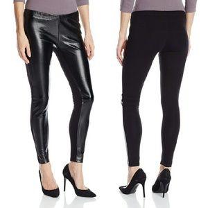 S,M Jessica Simpson Leather Panel Leggings NWT