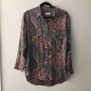 Equipment Tops - Equipment Paisley Printed Silk Shirt