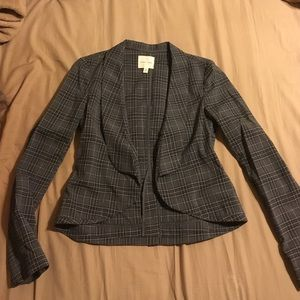 Urban Outfitter plaid fitted blazer