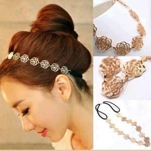 Accessories - Gold Rose Headband