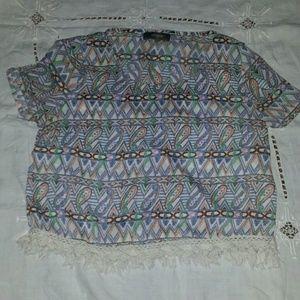 umgee Tops - Cute patterned crop top