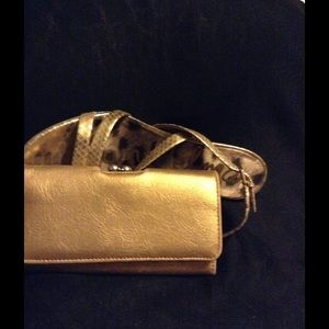 Gold Clutch Wallet