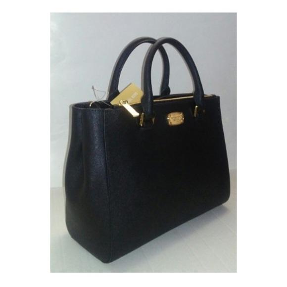 MK black satchel