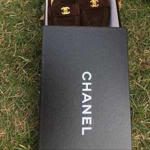Chanel Brown suede loafers - excellent condition