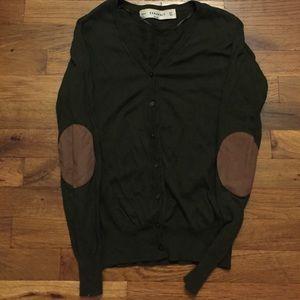 Zara forest green cardigan size S