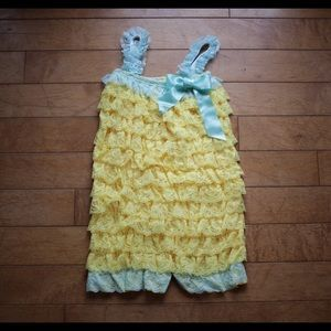 Other - SALE! Girls Ruffle Lace Petti Romper