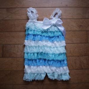 Other - SALE! Ruffle Lace Petti Romper