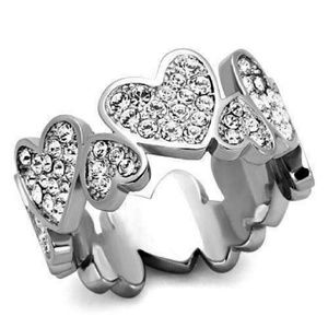 Stainless Steel  Heart Band