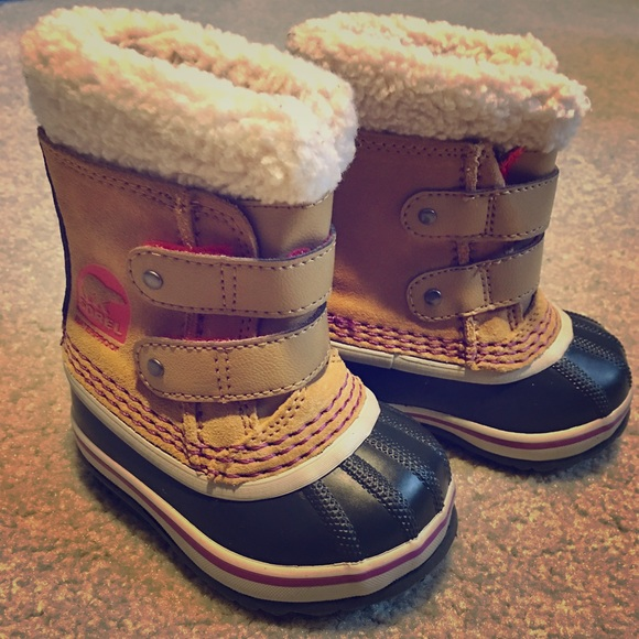 Tan Pink Sorel Baby Boots | Poshmark