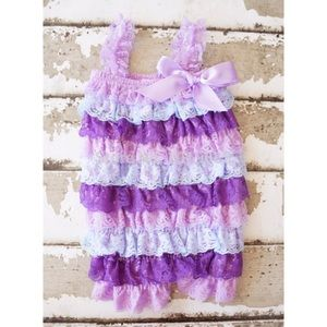 Other - SALE! Girls Stripe Lace Petti Romper