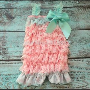 Other - SALE! Girls Lace Petti Romper