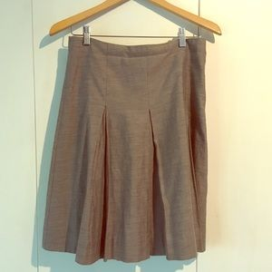 COS gray pleated skirt