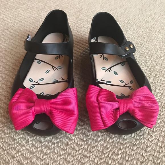 eb349b0a8 Mary Jane Jelly Peep Toe Bow Girls Shoes 10