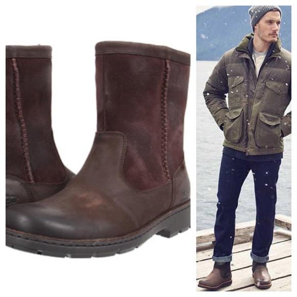 c54c8411 Sv: Vinterstøvler til ungdom. Mannen har slike, også UGG. Han har ett par  til med knyting.
